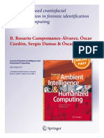 Computer-based craniofacial superimposition in forensic identification using soft computing
