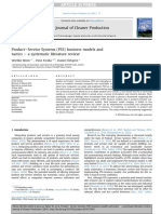 Journal of Cleaner Production Volume 97 issue 2015 [doi 10.1016%2Fj.jclepro.2014.07.003] Reim, Wiebke; Parida, Vinit; Örtqvist, Daniel -- Product–Service Systems (PSS) business models and tactics – a