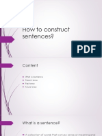 How to Construct Sentences