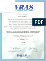 WRAS certificate 90-01