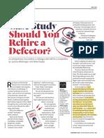 Case 2 - Should You Rehire a Defector