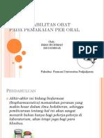 Bioavailabilitas Obat Pada Pemakaian Per Oral