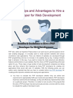 Important Tips and Advantages to Hire a PHP Developer for Web Development