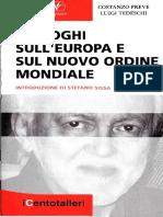 Costanzo Preve - Luigi Tedeschi - Dialoghi Sull'Europa e Sul Nuovo Ordine Mondiale PDF