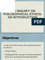 Inquiry on Philosophical Ethics