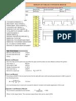 Spreadsheet for single span Cast in place concrete Bridge Design