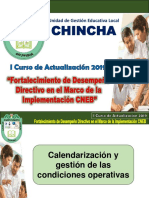 Calendarización