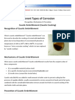 Caustic Embrittlement - Causes and Prevention