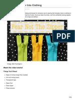 ehow.com-How to Sew a Zipper Into Clothing