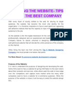Designing the Website Tips to Find the Best Company