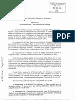 DECRETO DE INSTAURACIÓN DEL CATECUMENADO DE ADULTOS. AÑO 2013. SALAMANCA