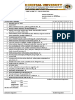 Clinical Practice Evaluation Tool . Final