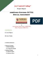 Report Format for Error Control Coding