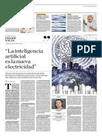 La Inteligencia Artificial Es La Nueva Electricidad