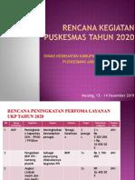 Rencana Kegiatan Layanan Puskesmas Tahun 2020 ( Jkn )