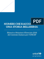 Bilancio UNICEF Italia 2018