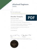 P.Eng. Certificate - Shreedhar