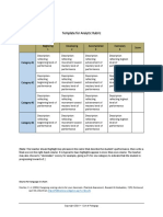Analytic-Rubric-Template