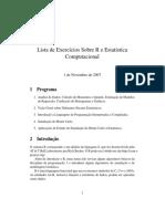 Lista de Exercícios Sobre R e Estatística Computacional