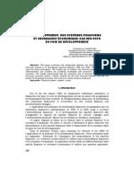 Croissance Et Système Financier - 2
