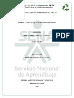 TEORIZACION DE RESIDUOS SOLIDOS