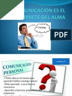 LA COMUNICACIÓN ES EL INTERPRETE DEL ALMA fanny gonzalez