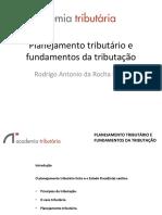 PLANEJAMENTO TRIBUTÁRIO E  FUNDAMENTOS DA TRIBUTAÇÃO