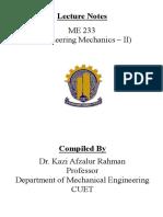 ME233_Engineering Mechanics-II