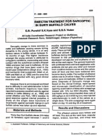 Efficacy of ivermectin treatment for sarcoptic mange in Surti buffalo calves