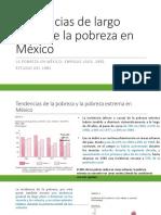 Tendencias de largo plazo de la pobreza en