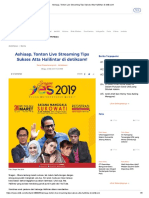 Ashiaap, Tonton Live Streaming Tips Sukses Atta Halilintar di detikcom!