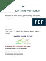 CH2 - Is Matter Around Us Pure_ (MCQs)