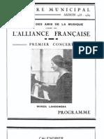 LANDOWSKA, Wanda • Tunis. Société des Amis de la Musique (24 nov. 1933). Programme