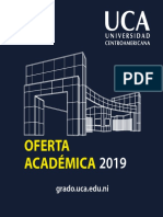 Oferta Académica UCA, Nicaragua