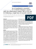 Effects of 14 Days of Prophylactic Resveratrol