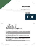 Panasonic KX-TG9581 - TG9582 2Line