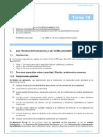 Tema 18 Procesos Especiales en La Lec