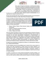 Reporte Curso Admon. Pública