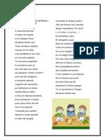 Poema a Cocachos Aprendi