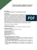 Métodos computacionales para el análisis y optimización de sistemas