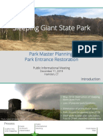 Sleeping Giant State Park Public Informational Meeting Presentation