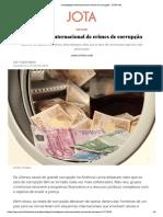 Investigação internacional de crimes de corrupção - JOTA Info