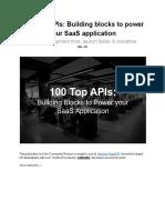 100 Top APIs_ Building Blocks to Power Your SaaS Application - Google Docs