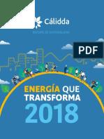 Memoria de Sostenibilidad Cálidda 2018