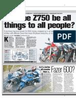 FZ6 vs Z750