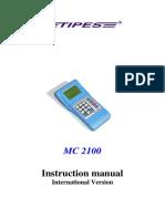 Tipes Manual for MC2100