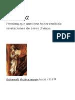 Profeta - Wikipedia, La Enciclopedia Libre