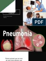 Seminário de enfermagem clínica sobre pneumonia