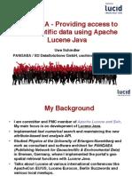 PANGAEA - Providing access to geoscientific data using Apache Lucene Java