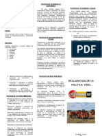 FOLLETO DE DECLARACION DE POLITICA HSEC